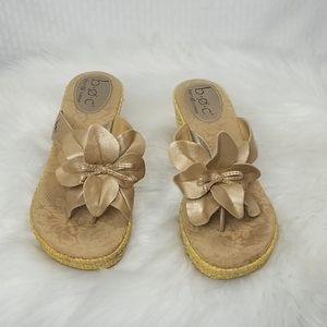 B.O.C. Sandals with leather flower accent